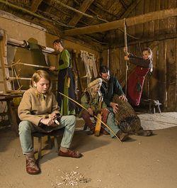 Wie die Wikinger wohnten 1 (Führung in den Wikinger Häusern Haithabu)